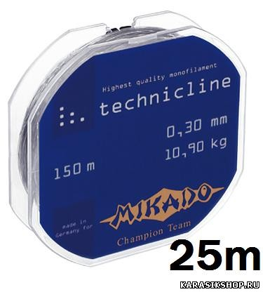 Леска Mikado Technicline 25 м 0.06 мм 0,65 кг Л01-00029