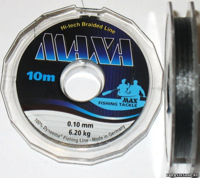 Леска плетёная MAXA 10m 0.14mm 9,1kg grey Л01-00144